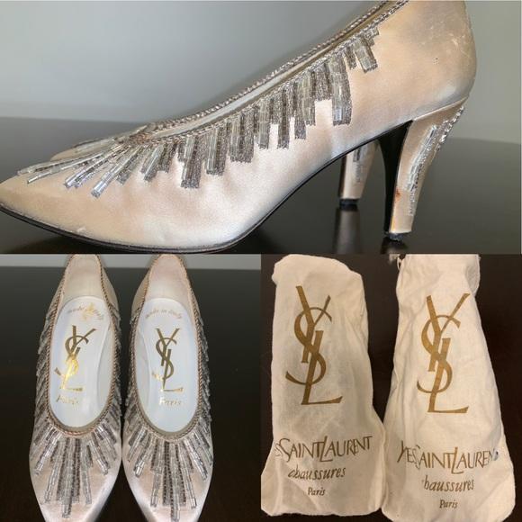 e0d0827ff YSL Yves Saint Laurent Chaussures Paris heels rare.  M_5c7b1159aa877020229f6124